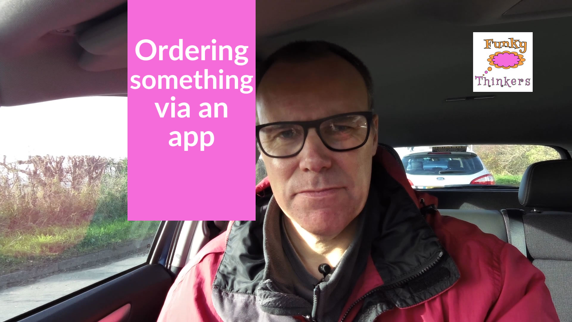 ordering something on an app