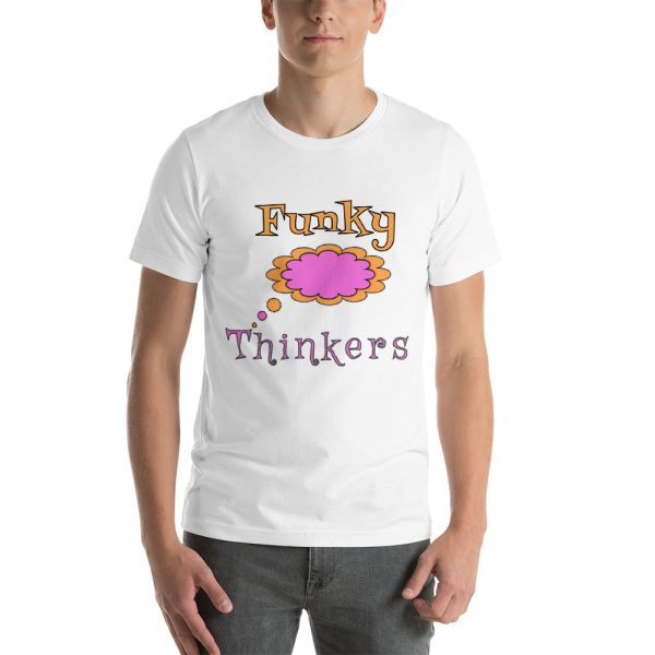 Funky Thinkers Logo T shirt - White 1